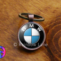 Handmade BMW Car Keychain Key Chain Case Key Ring Accessories Gift
