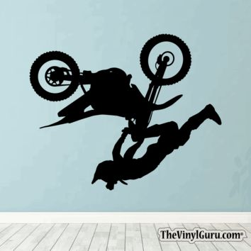 Motocross Wall Decal - Dirt Bike Sticker #00008