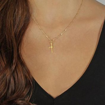 Fashion Cross Necklace & Pendant Jesus Christian Jewelry Fast & Furious Chain Cross Chain Necklace for Women