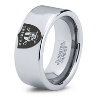 Oakland Raiders Ring Mens Fanatic NFL Sports Football Boys Girls Womens NFL Jewelry Fathers Day Gift Tungsten Carbide 043