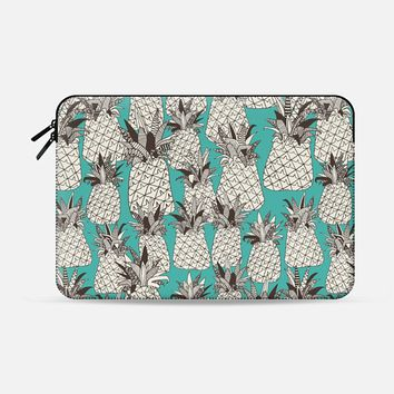 pineapple turquoise sea Macbook Pro 13 sleeve by Sharon Turner | Casetify