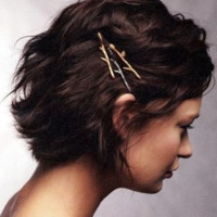 Fashion and contracted The branches of the leaf bud women's hair clips
