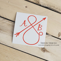 Ampersand Arrow Couple Infinity Love || Vinyl Window Car Decal