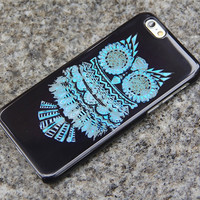 Turquoise OWL iPhone 6 Cool iPhone 5S 5iPhone 5CiPhone 4S/4 Case Samsung Galaxy S6 edge S6 S5 S4 S3 Note 2 Note 3 Case Animal Print 015