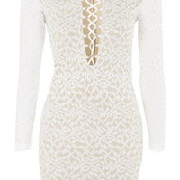 **Lace Bodycon Dress by WYLDR - Ivory