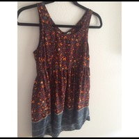 Urban outfitters dark floral dress