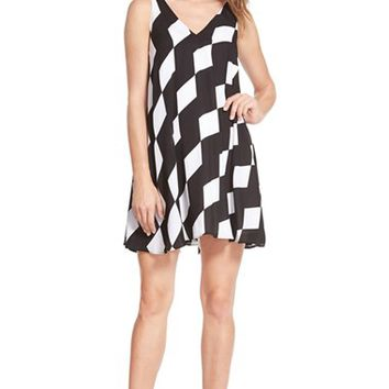 Women's Sam Edelman Double V-Neck Shift Dress,
