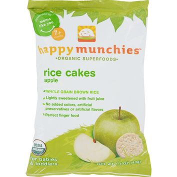 Happy Baby Organic Rice Cakes Apple - 1.4 oz
