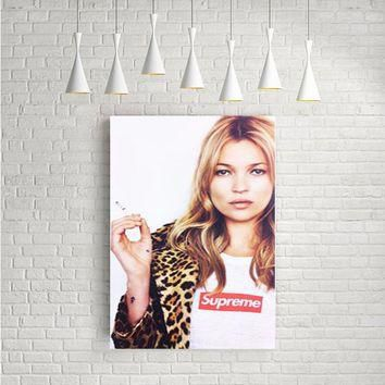 KATE MOSS SUPREME LEOPARD ARTWORK POSTERS