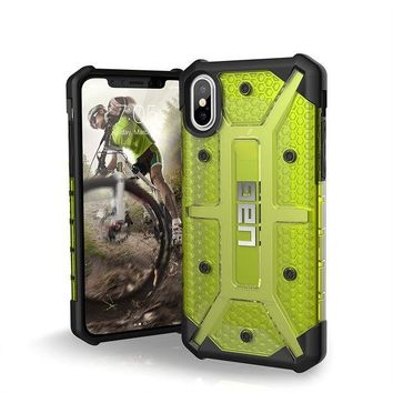 VONEIR6 UAG iPhone X Plasma Feather-Light Rugged [CITRON] Military Drop Tested iPhone Case