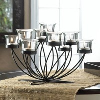 Iron Bloom Candle Centerpiece Decor
