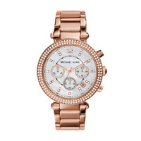 Michael Kors Parker Rose Gold-Tone Stainless Steel Ladies Chronograph Watch