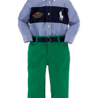 Ralph Lauren Baby Boys' 2-Piece Cotton Shirt & Chinos