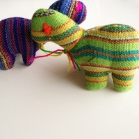 Woven Animal Dinosaur Green