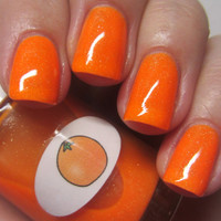 Neon Shimmer Jelly Orange Nail Polish