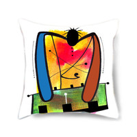 Home decor pillow cover, art pillow, decorative pillow for bed, colorful pillow, gift for him, musical instrument, musical gift, home decor