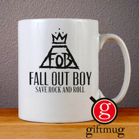 Fall Out Boy Save Rock and Roll Ceramic Coffee Mugs