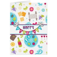 Colorful Modern Passover Greeting Card