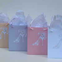 12 Sweet 16 Favor Gift Bags, Bridal Shower, Quinceañera, Bachelorette