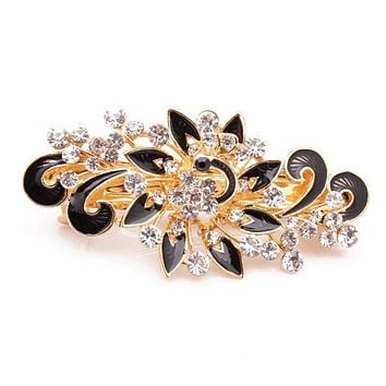 2017 Hot Sale Fashion Women Hairpins Colorful Shinning Rhinestones Flower Hairpin Hair Clip Jewelry hair accessories