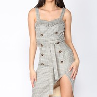 What's The 411 Dress - Brown