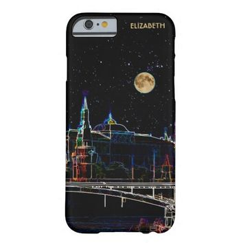 Moscow Kremlin Skyline At Night With Full Moon Barely There iPhone 6 Case
