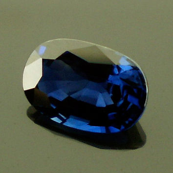 Sapphire: 1.37ct Blue Oval Shape Gemstone, Natural Hand Made Faceted Gem, Loose Precious Corundum Mineral, Fine AAA Wholesale Gemstone 20275