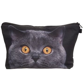 Cute Cat Makeup Case Pencil Pouch