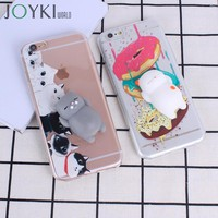 Squishi animal Phone Case 3D Soft Silicone case for iPhone 6 6s 7 7Plus 5 5S SE Lovely Cat Squishy Cases