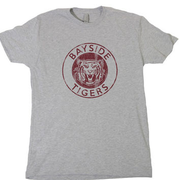 Brand New BAYSIDE TIGERS T-Shirt vintage saved by the bell california zack morris a.c. slater gym wrestling football jersey tee 478