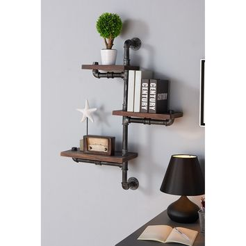 Armen Living Orton Industrial Floating Wall Shelf | Hayneedle
