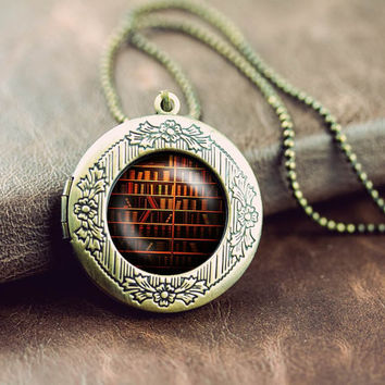 bookshelf library books author reading literature vintage pendant locket necklace - ready for gifting - buy 3 get 4th one free