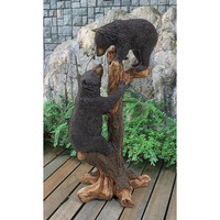 Park Avenue Collection Climbing Cubs Black Bear Statue