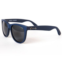THE SEEKER SUNGLASSES IN MATTE NAVY BY KENNEDY