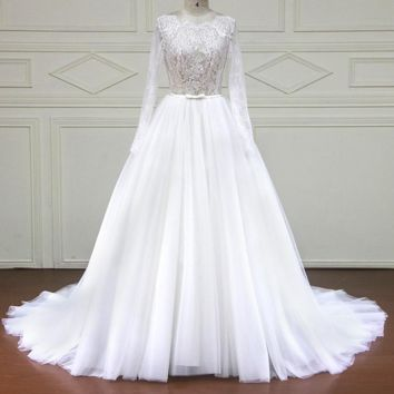 Elegant Bridal Dresses Wedding Dresses Lace tulle Wedding Gowns