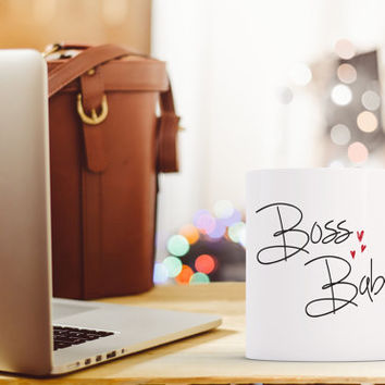 Boss Babe Coffee Mug, Entrepreneur Coffee Mug, Woman Coffee Mug, Boss Mug, Small Mug, Large Mug, Coffee Mug, Work Mug, Gift Idea for her