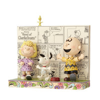 Peanuts Charlie Brown Comics Happy Dance Jim Shore Resin Figurine New with Box