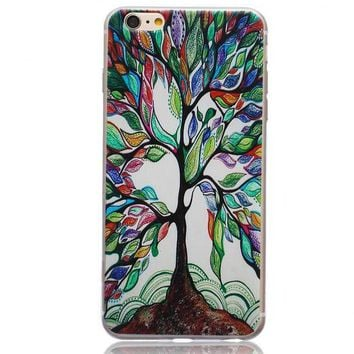 Tree Ultrathin Transparent Lace iPhone 5se 5s 6 6s Case Originality Cover Gift-170928