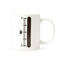 FOREVER 21 Fuel Meter Coffee Mug Cream/Black One