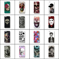 Various Cool Phone Plastic Case for Apple Iphone 6 6S Colorfull Halloween Wizard Skull Pattern Cell Mobile Gift