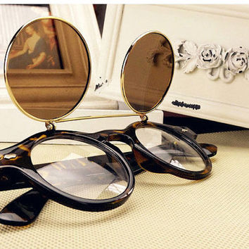 Circle Vintage Steampunk Sunglasses