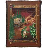 Grateful Dead Covered Wagon Terrapins Woven Cotton Blanket