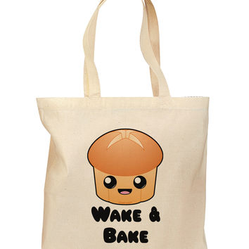 Wake and Bake Cute Roll Grocery Tote Bag