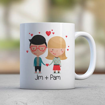 Custom Illustration Custom Avatar Wedding Gift Couple Gift Engagement Gift Coffee Mugs Tea Love Cute Mugs Name Mug Personalized Custom Mug