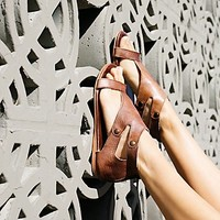 Free People Soto Washed Leather Sandal