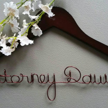 Personalized Attorney  Hanger, Makes a great gift to Hang his suit coat on