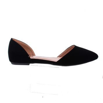 Steph03 D'orsay Pointy Toe Slip On Dress Flats