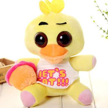 30cm Big Size   At Freddy Yellow Duck Stuffed  Plush toy For Children Christmas gift Doll