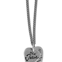 Christian Necklace - Pick Jesus - Guitar Pick