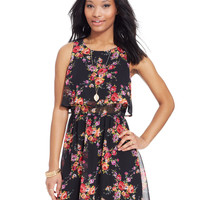 Emerald Sundae Juniors' Floral-Print Dress